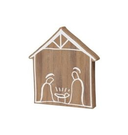 Collins Painting & Desgin Holiday Nativity Wood Cut Out
