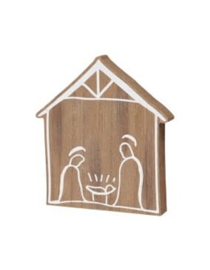 Holiday Nativity Wood Cut Out