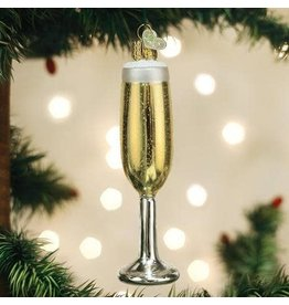Old World Christmas Ornament Champagne Flute