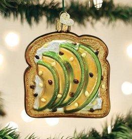 Old World Christmas Ornament Avocado Toast