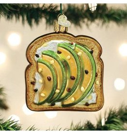 Old World Christmas Ornament Avocado Toast