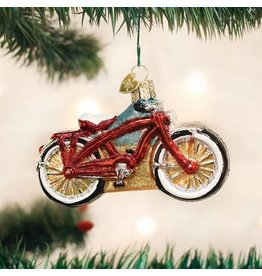 Old World Christmas Ornament Cruiser Bike