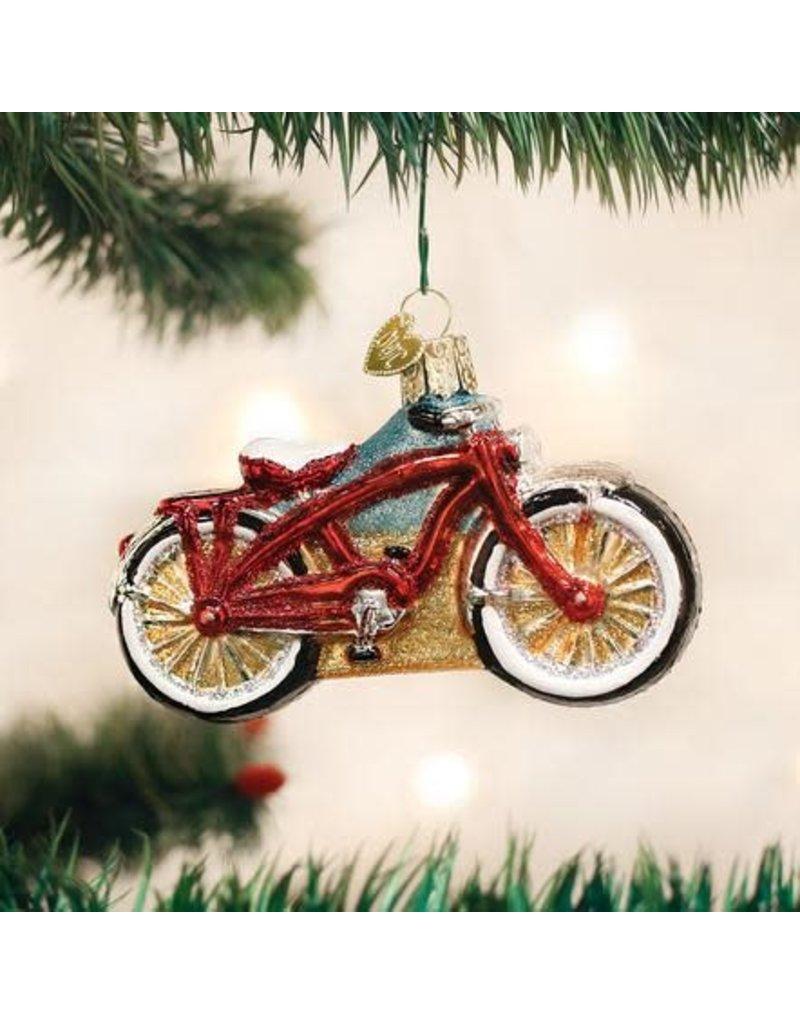 Old World Christmas Ornament Cruiser Bike