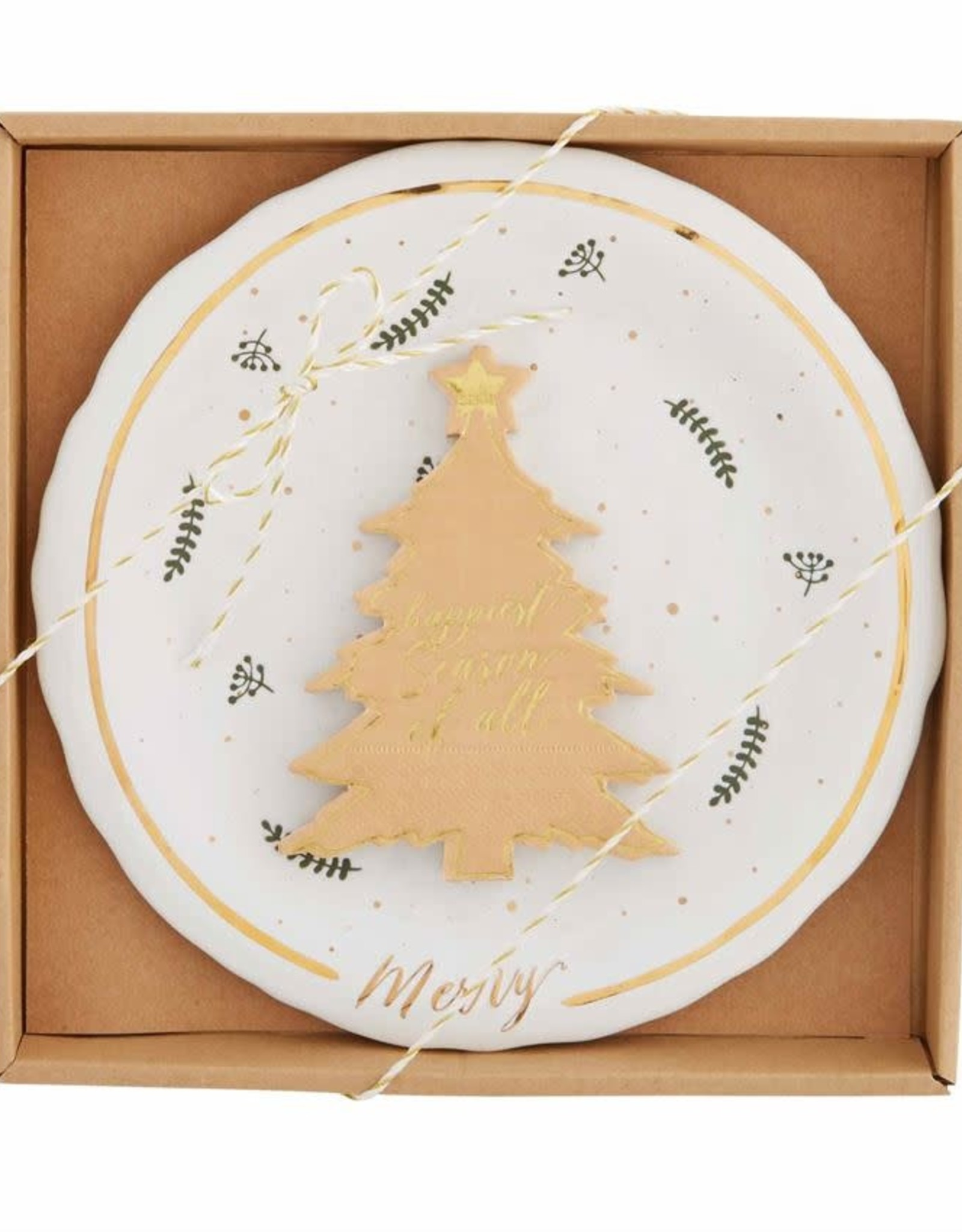 Holiday Gold Splatter Cheese Set