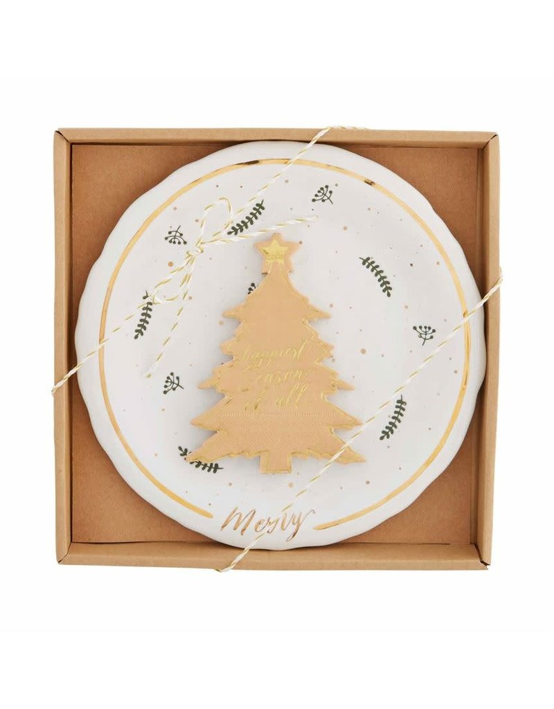 Holiday Gold Splatter Cheese Set