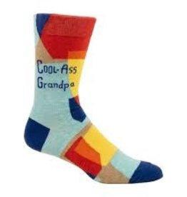 Blue Q Blue Q Men's Crew Socks Cool-Ass Grandpa