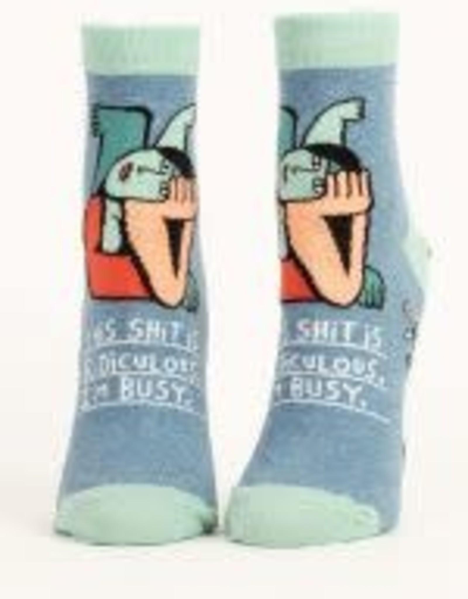 Blue Q Blue Q Women's Ankle Socks Shit is Ridiculous