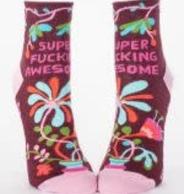Blue Q Blue Q Women's Ankle Socks SuperFing Awesome