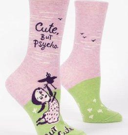 Blue Q Blue Q Women's Crew Socks Cute, But Psycho