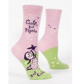 Blue Q Blue Q Women's Crew Socks Cute, But Psycho