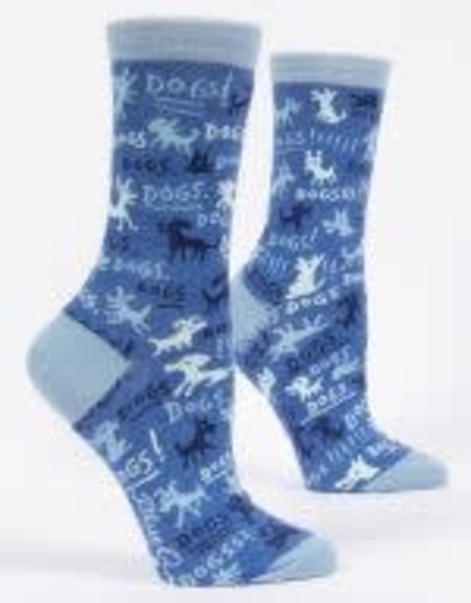 Blue Q Blue Q Women's Crew Socks Dogs!