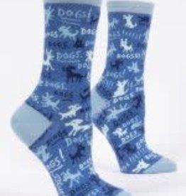 Blue Q Blue Q Women's Crew Socks Dogs!