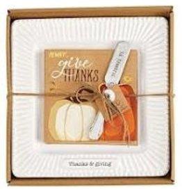 Thanksgiving Cheese Set Thanks