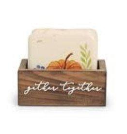 Mud Pie Thanksgiving Coaster Set Pumpkin