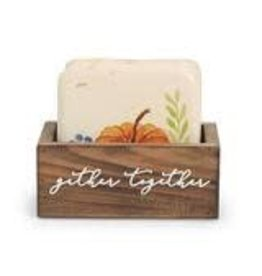 Thanksgiving Coaster Set Pumpkin