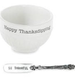 Thanksgiving Dip Cup Set Happy