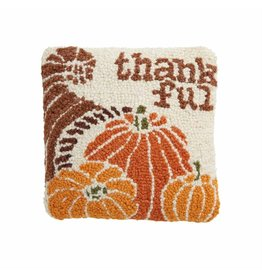 Mud Pie Thanksgiving Mini Hook Pillow Thankful