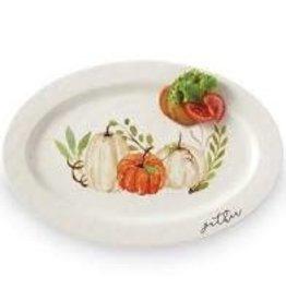 Mud Pie Thanksgiving Platter Pumpkin Gather