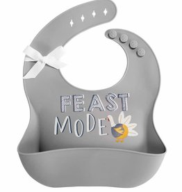 Thanksgiving Silicone Bib Grey