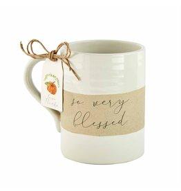 Thanksgiving Stoneware Mug Blessed