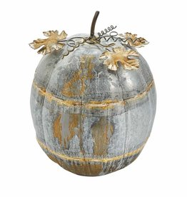 Thanksgiving Tin Pumpkin Sitter Large