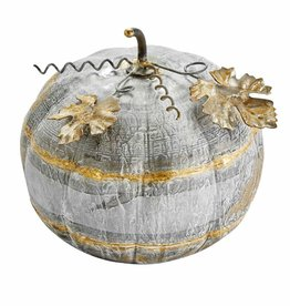 Thanksgiving Tin Pumpkin Sitter Small