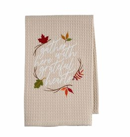 Thanksgiving Waffle Towel Gather
