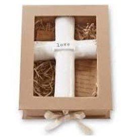 Mud Pie Love Prayer Cross