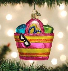 Old World Christmas Ornament Beach Bag
