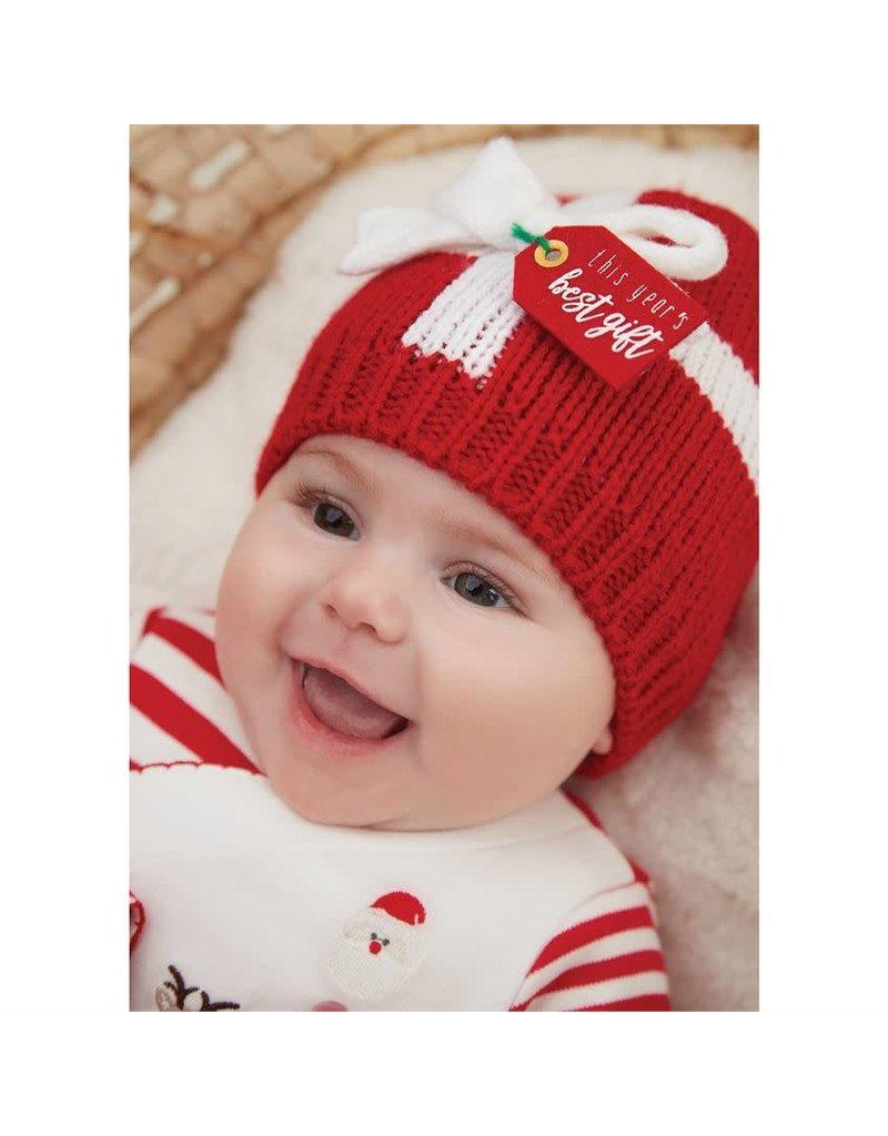 Mud Pie Holiday Best Gift Knit Hat