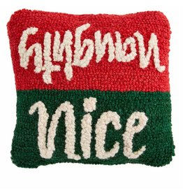 Mud Pie Holiday Mini Hooked Pillows Nice