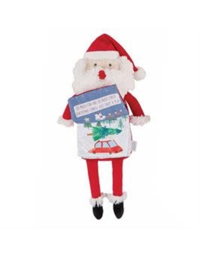 Mud Pie Holiday Santa Plush Book