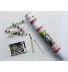 Paint by Numbers Kit Sensitive Succulents