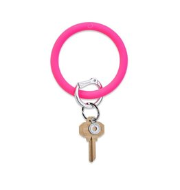 Big O Silicone Keyring Tickled Pink
