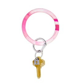 O Venture Big O Silicone Keyrings Tickled Pink Marble
