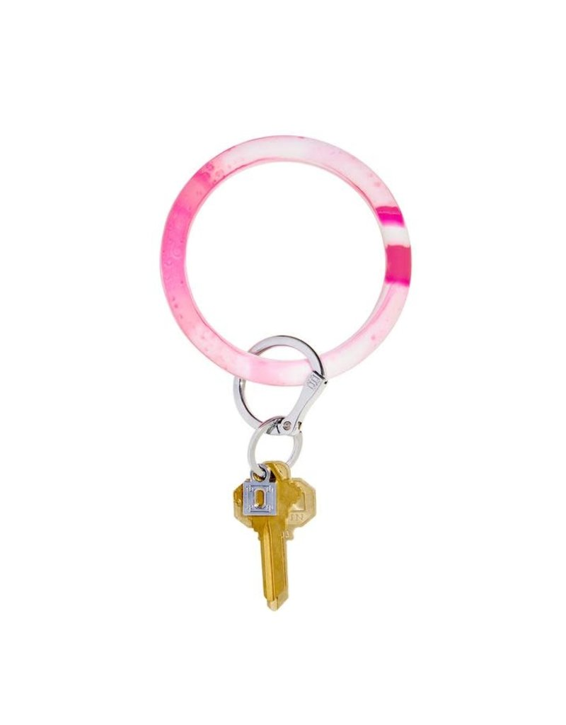 Big O Silicone Keyring Tickled Pink Marble