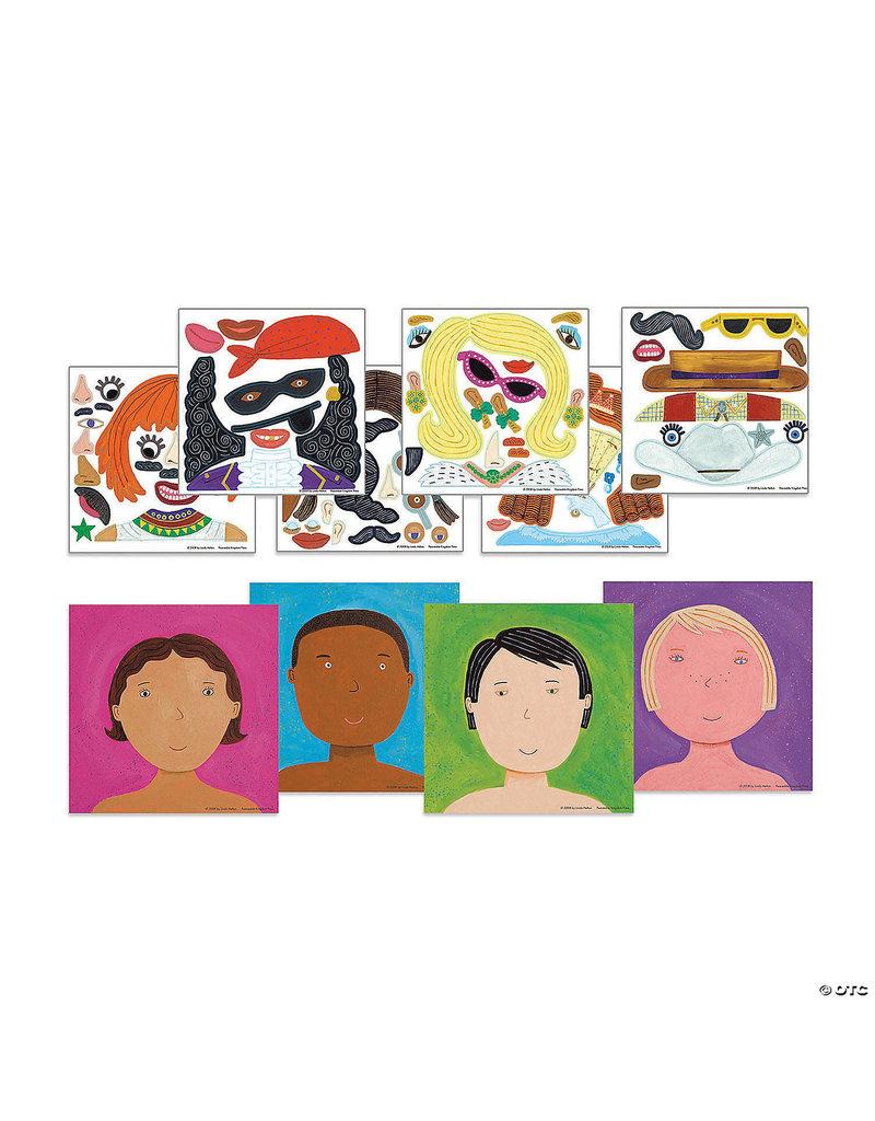 Sticker Tote-Funny Faces