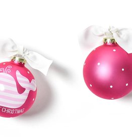 Coton Colors Ornament My First Christmas Pink Whale