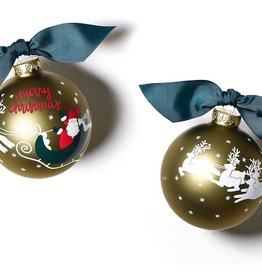 Coton Colors Ornament Merry Christmas to All Vintage Santa