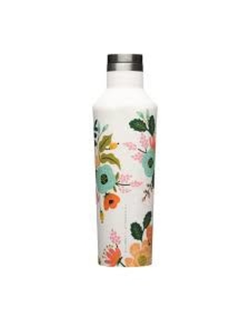 Corkcicle Canteen- 16oz Rifle Paper Cream Lively Floral