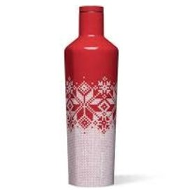 Corkcicle Canteen- 25oz Fairisle Red