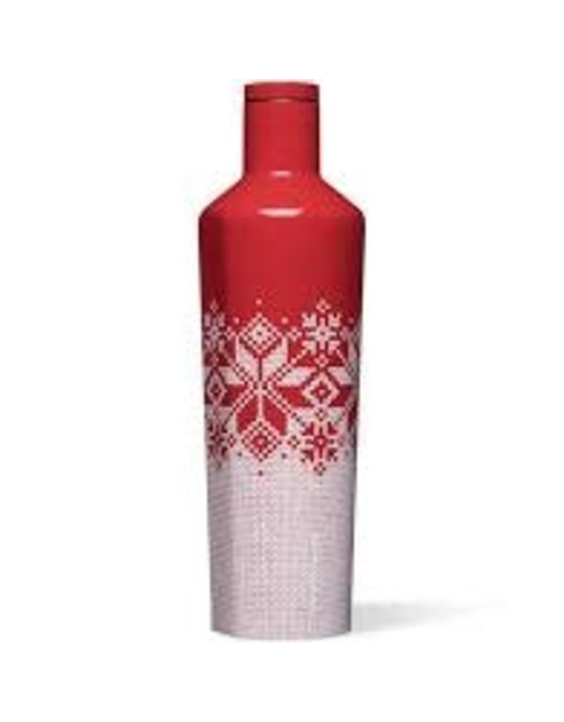 Corkcicle Corkcicle Canteen- 25oz Fairisle Red