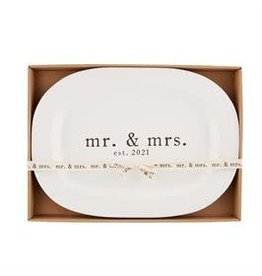Mud Pie Mr. and Mrs. 2021 Platter