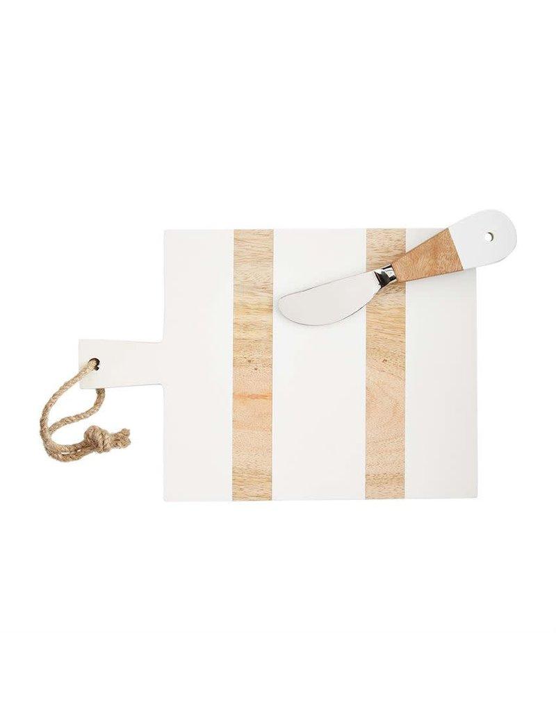 Mud Pie Mini Board Set White Rectangle