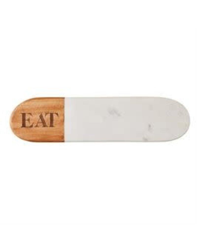 Mud Pie Marble Wood Oval Serving Board