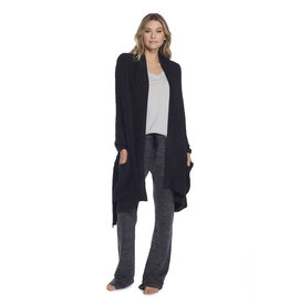 Barefoot Dreams Barefoot Dreams Cozychic Heathered Travel Shawl Black