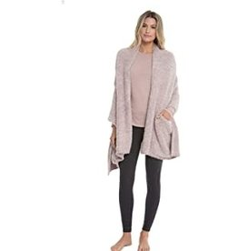 Barefoot Dreams Barefoot Dreams Cozychic Heathered Travel Shawl Stone