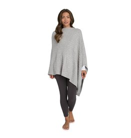 Barefoot Dreams Barefoot Dreams Cozychic Light Cable Poncho Carbon Pewter Silver