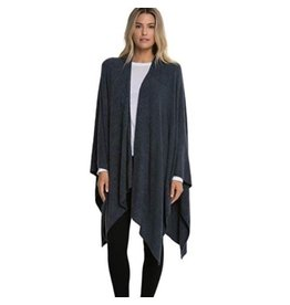 Barefoot Dreams Barefoot Dreams Cozy Chic light Heathered Indigo-Pacific Blue Weekend Wrap
