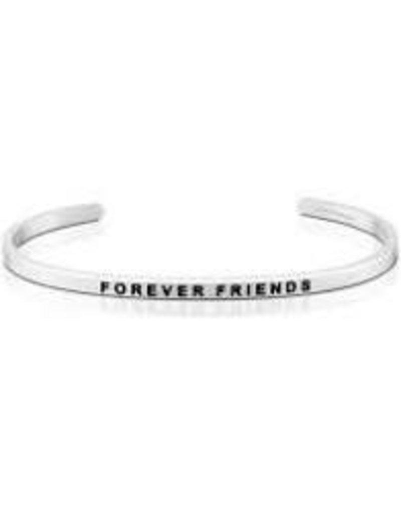 MantraBand Bracelet Forever Friends- Silver